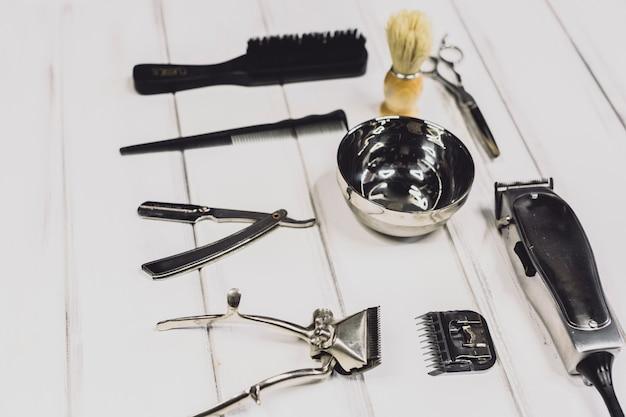 Équipement professionnel de barbier