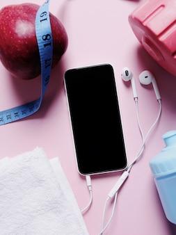 Équipement de sport et smartphone
