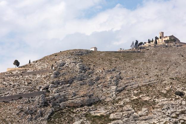 Ermitage au sommet de la colline à bocairent