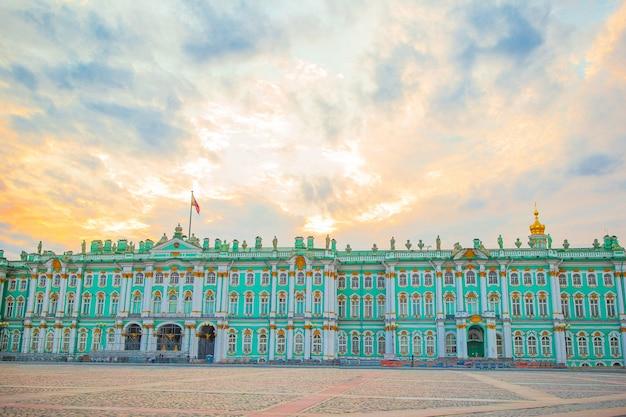 Ermitage sur la place du palais, saint-pétersbourg, russie