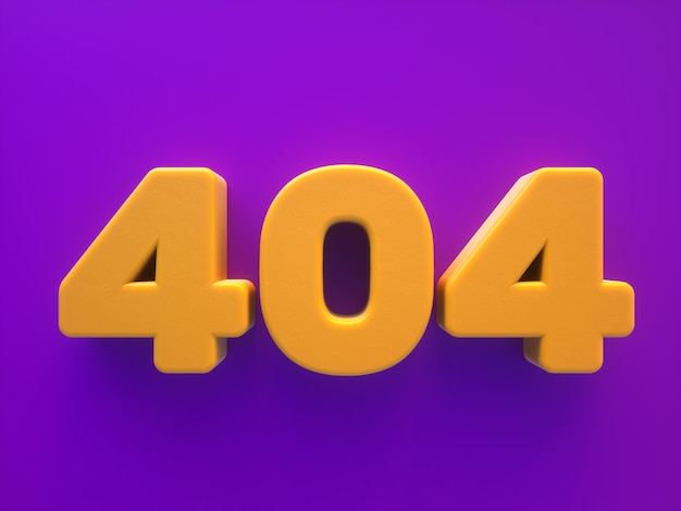 Erreur de page de site web 404 rendu texte 3d
