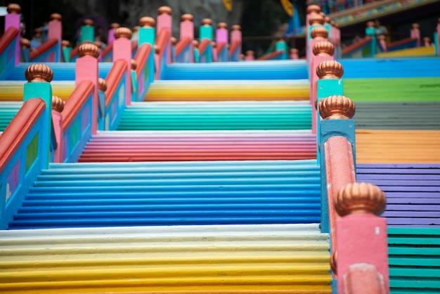 Escalier arc-en-ciel en parallèle et lisse