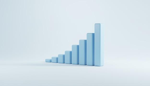 Escalier bleu vers le succès de la croissance