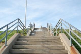 Escalier, la caméra