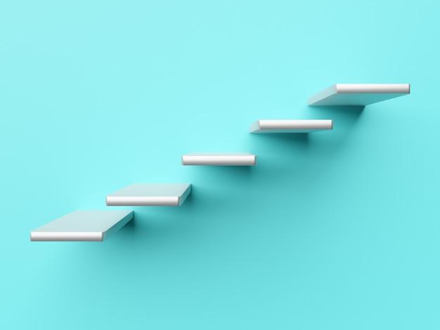 Escalier concept avec ombre dans le mur