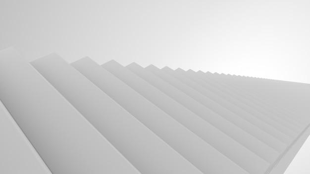 Escalier dans un intérieur blanc