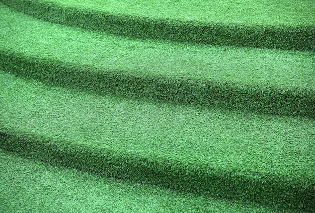 Escalier en herbe.