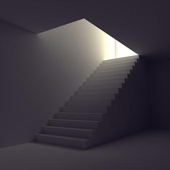 Escalier à la lumière