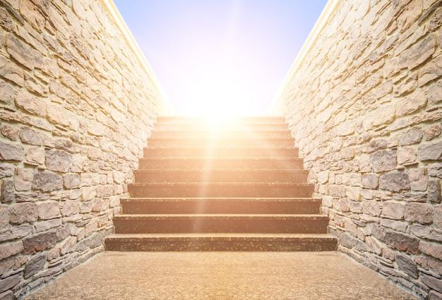L'escalier monte vers le ciel