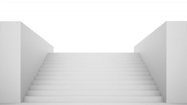 Escaliers blancs vides