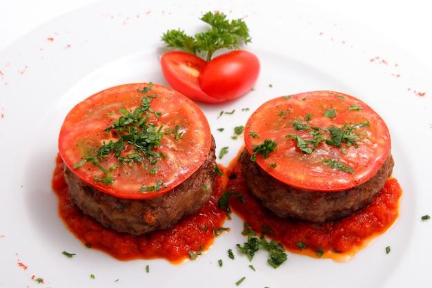 Escalope au fromage et tomates