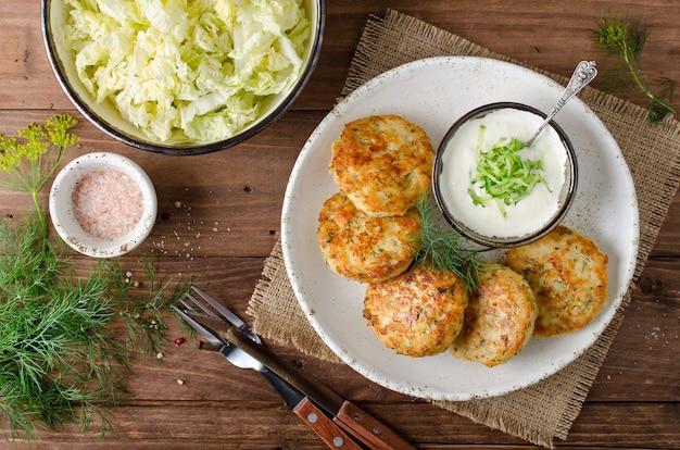 Escalopes de poulet à l'aneth et sauce tartare
