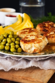 Escalopes de poulet - gros plan