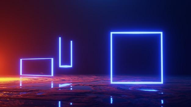 Espace abstrait, voyage dans l'espace, concept de l'univers, rendu 3d