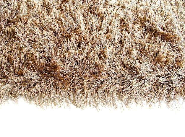 Espace blanc et tapis marron