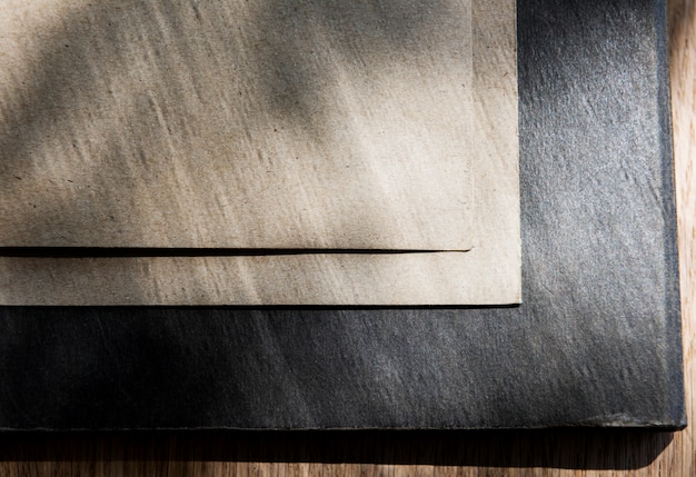 Espace de conception sur la carte de papier