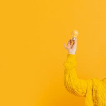 Espace copie avec ampoules jaunes