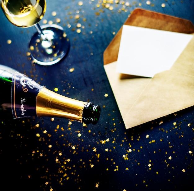 Espace de copie des célébrations du nouvel an