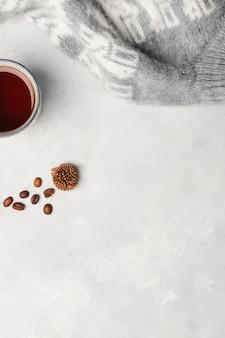 Espace de copie concept hiver minimaliste