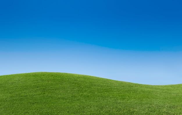 Espace de copie de détente destination ciel vue d'herbe