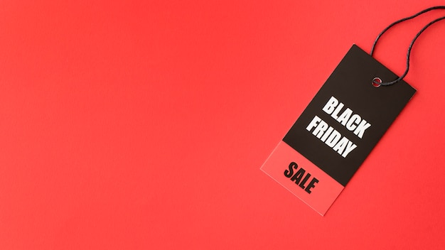 Espace de copie d'étiquette de vente vendredi noir