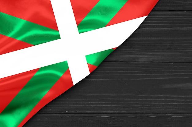 Espace copie de gros plan du drapeau basque