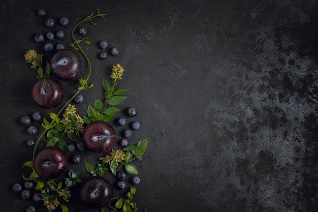 Espace copie myrtilles et prunes
