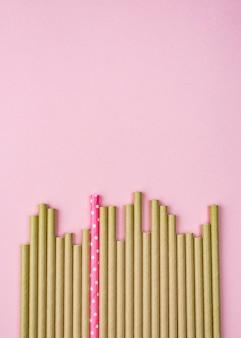 Espace de copie de pailles en papier biodégradable