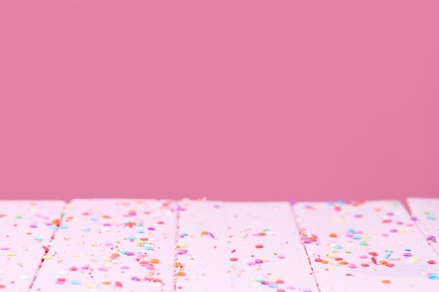 Espace de copie de paillettes sucrées dispersées