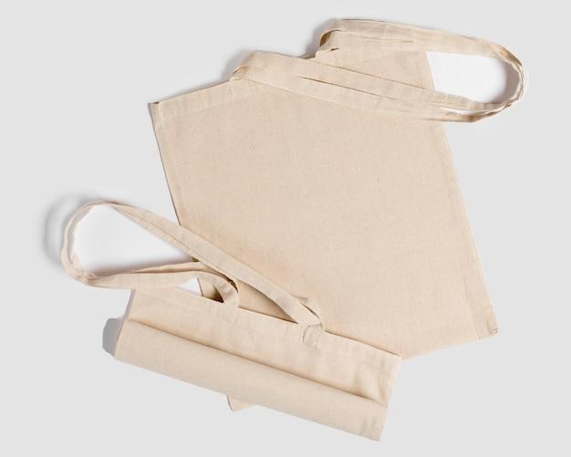 Espace de copie de sac fourre-tout vue de dessus