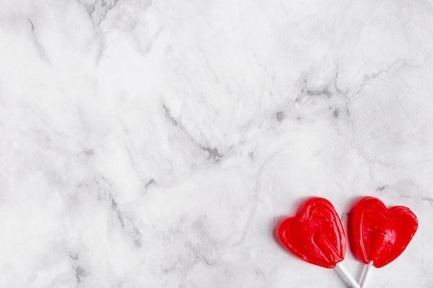 Espace de copie de sucettes coeur doux