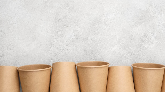 Espace de copie de vaisselle jetable écologique