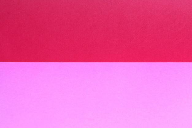 Espace de copie vide à partir de papier de couleur. fond de feuille de couleur rouge et rose