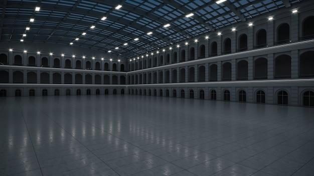 Espace d'exposition vide. forum d'affaires