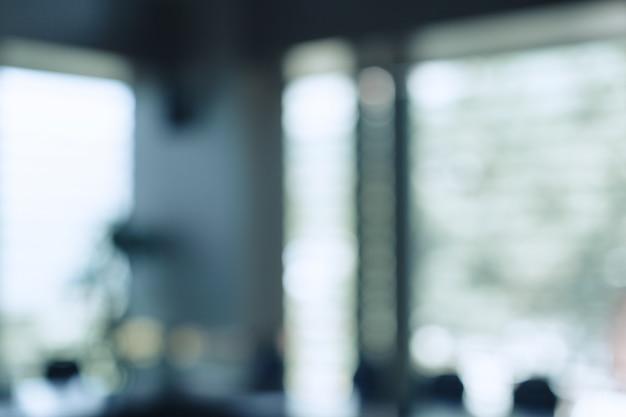 Espace intérieur de bureau flou