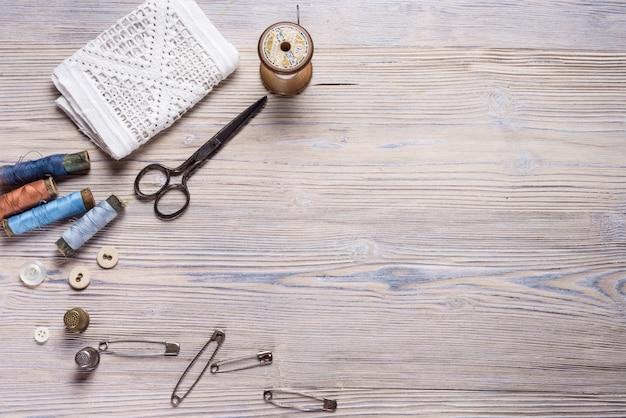 Espace libre pour votre texte fond en bois rustique, thème de l'artisanat.