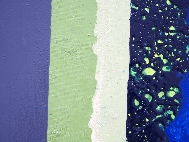 Espace de peinture à l'huile bleu foncé et abstrait de texture.