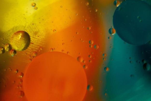 Espace ou planètes univers abstrait cosmique molécule abstraite bulles d'eau