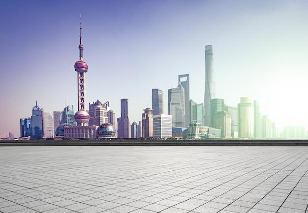 Espace pudong chinois nuage de ciment