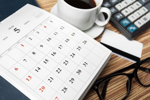 Espace de travail. calendrier