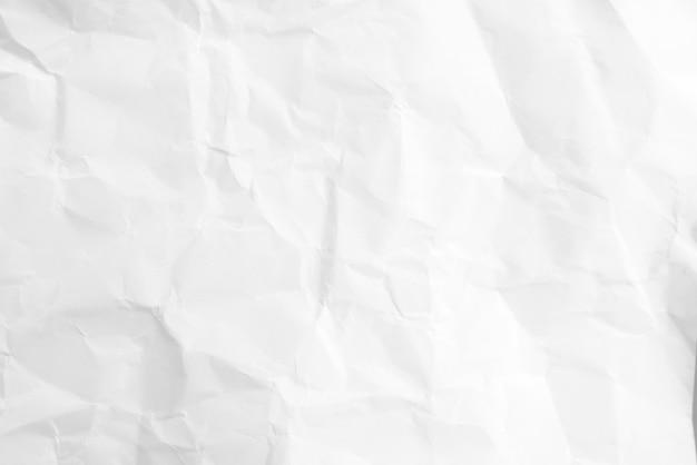Espace vide de papier blanc froissé résumé fond blanc lumière claire