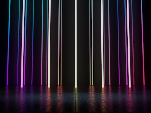 Espace vide pour l'exposition de produits avec une lumière led colorée