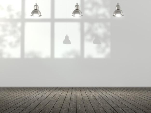 Espace vide pour la vitrine du produit dans la salle blanche.