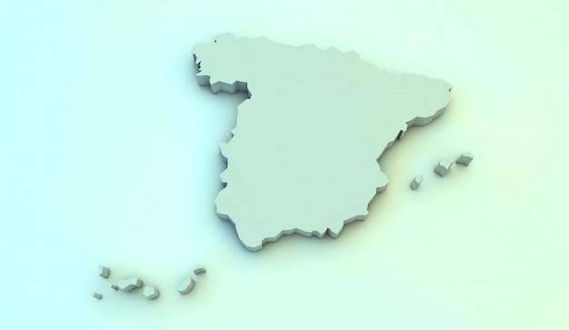 Espagne carte 3d