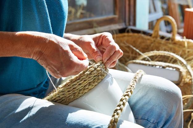 Esparto halfah artisan artisanal herbe mains