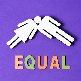 Un esprit deux sexes concept d'égalité