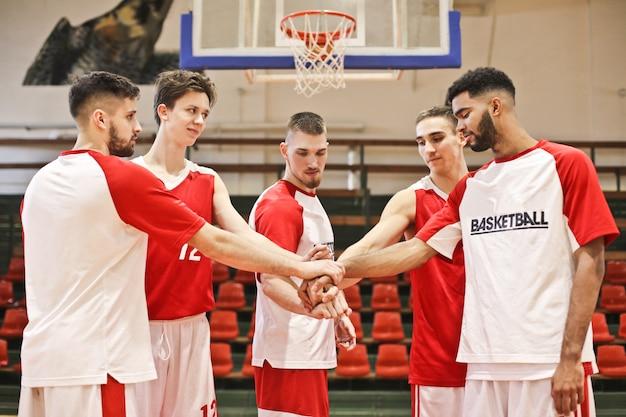 Esprit d'équipe au basket