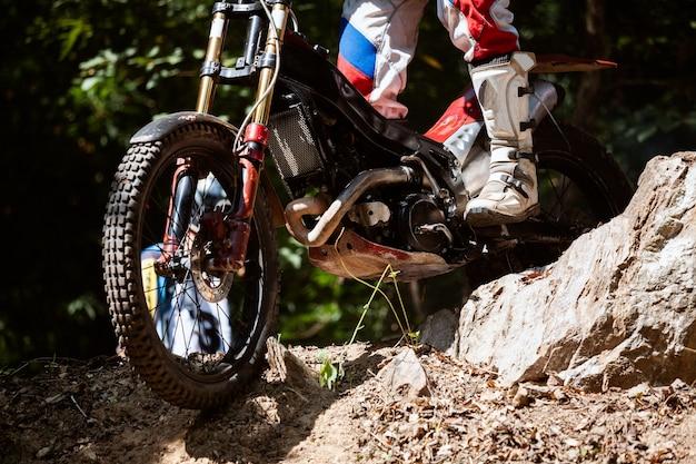 Essais moto pendant la compétition
