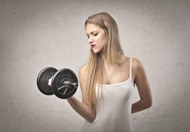 Essayer d'être fort et en forme