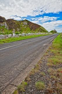 Est antrim route de campagne hdr courbe